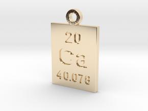 Ca Periodic Pendant in 14K Yellow Gold