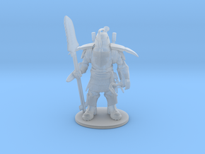 Garden Tool Knight in Smooth Fine Detail Plastic
