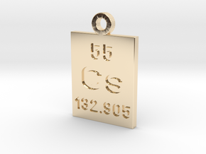 Cs Periodic Pendant in 14K Yellow Gold