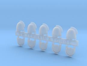 V7 Gladiator Style Blank Shoulder Pad in Smooth Fine Detail Plastic