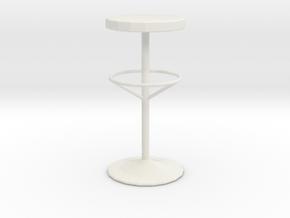 Printle Thing Bar stool - 1/24 in White Natural Versatile Plastic