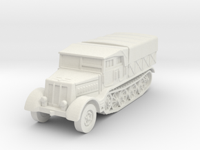 Sdkfz 9 FAMO (covered) 1/87 in White Natural Versatile Plastic