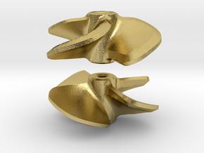 Propeller 16 x 16 4-blades (RH+LH pair) in Natural Brass