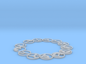 63.5 2mm bangle in Smooth Fine Detail Plastic