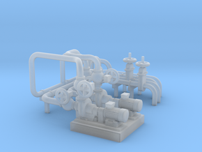 O Scale Pump Unit in Smooth Fine Detail Plastic