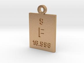 F Periodic Pendant in Natural Bronze