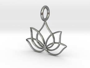Lotus (K)  in Natural Silver