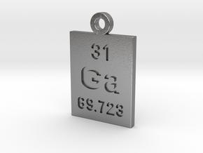 Ga Periodic Pendant in Natural Silver
