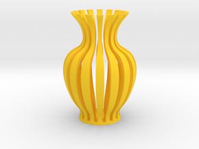 Vase-18 in Yellow Processed Versatile Plastic