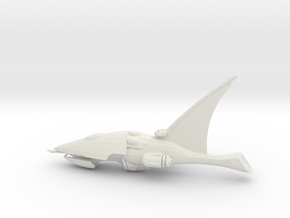 Eldar Craftworld - Concept Ship 2 in White Natural Versatile Plastic