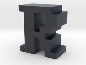 """""""R"""" inch size NES style pixel art font block in Black PA12"""
