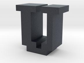 """""""U"""" inch size NES style pixel art font block in Black PA12"""
