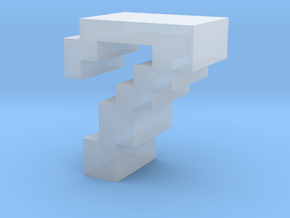 """""""7"""" inch size NES style pixel art font block in Smooth Fine Detail Plastic"""