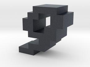 """""""9"""" inch size NES style pixel art font block in Black PA12"""