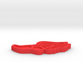 Track & Field Keychain (2019) in Red Processed Versatile Plastic