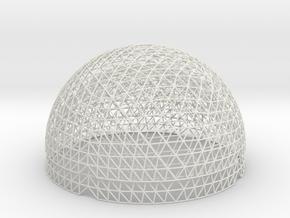 Geodesic Hemisphere, 16 freq in White Natural Versatile Plastic
