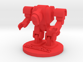 Archimedes in Red Processed Versatile Plastic: Large