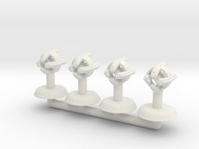 X-Ray Small Warship Squadron in White Natural Versatile Plastic
