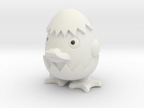 Cute duck in White Natural Versatile Plastic