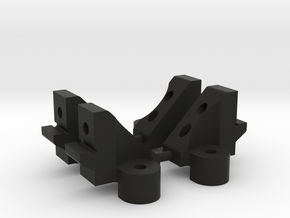 TT-02 bulkhead set (fits TT-02 KR versions only) in Black Natural Versatile Plastic
