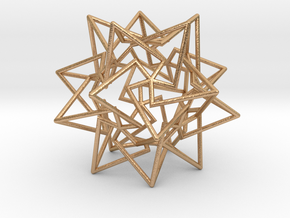 Star Dodecahedron in Natural Bronze