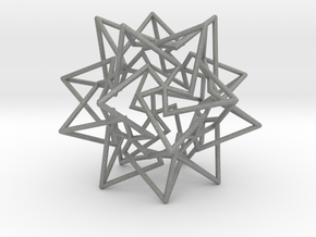 Star Dodecahedron in Gray Professional Plastic