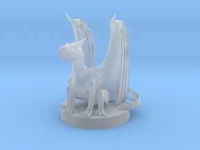 White Dragon Wyrmling in Smooth Fine Detail Plastic