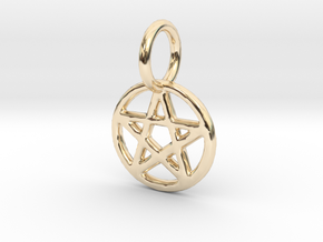 penta 1 small Pendant in 14k Gold Plated Brass