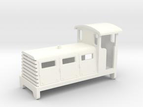 JENBACH 0-6-0 DIESEL LOCOMOTIVE BODYSHELL  -  009 in White Processed Versatile Plastic