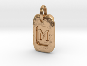 Old Gold Nugget Pendant M in Polished Bronze