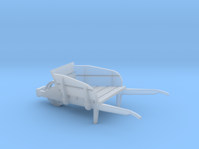wheel barrow 1:45 scale in Smooth Fine Detail Plastic