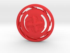 Beyblade in Red Processed Versatile Plastic