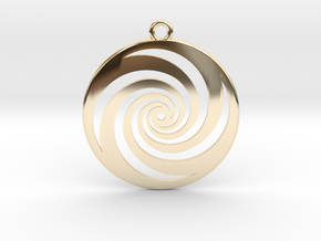 Golden Phi Spiral in 14k Gold Plated Brass