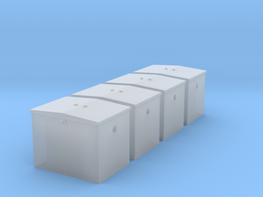 HO - GN Railway -  Battery Box - Qty. 4 in Smooth Fine Detail Plastic: 1:87 - HO