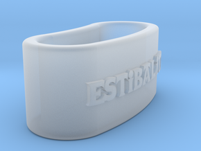 ESTIBALITZ 3D Napkin Ring with daisy in Smooth Fine Detail Plastic