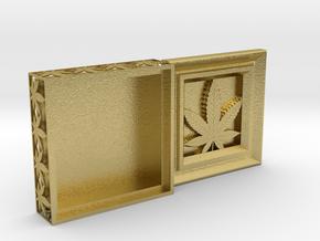 Stash Box Hemp in Natural Brass