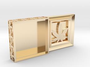Stash Box Hemp in 14k Gold Plated Brass