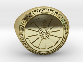 Round Table India signet ring  in 18k Gold Plated Brass