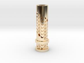 510 Tip Hexagonal Cut out in 14k Gold Plated Brass