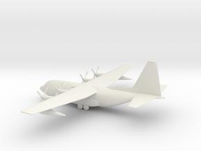 Lockheed C-130 Hercules in White Natural Versatile Plastic: 1:160 - N