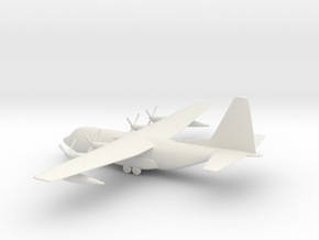 Lockheed C-130 Hercules in White Natural Versatile Plastic: 1:144