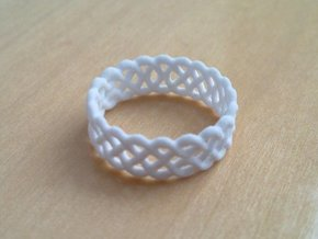 Celtic Ring - 19mm ⌀ in White Natural Versatile Plastic