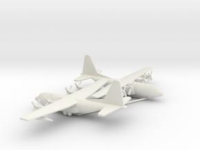 Lockheed C-130 Hercules in White Natural Versatile Plastic: 1:500