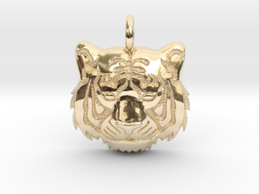 TIGER HEAD in 14K Yellow Gold: Small