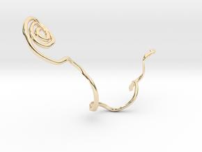 orecchino_serpente in 14K Yellow Gold