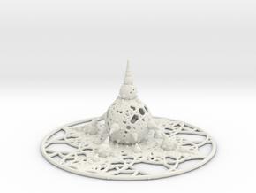 Grid Bulb V in White Natural Versatile Plastic
