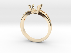 1ct Center Stone Ring in 14K Yellow Gold