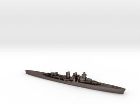 Giuseppe Garibaldi light cruiser 1:1800 WW2 in Polished Bronzed-Silver Steel
