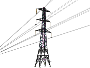 Pylon L2 D   275/400kV (OO gauge) in White Natural Versatile Plastic