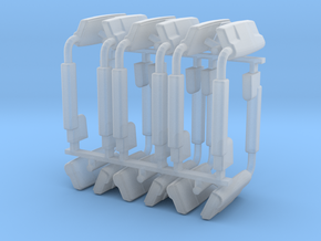 (6) 2019 & NEWER POWER ADJUST MIRROR SETS - BR in Smooth Fine Detail Plastic
